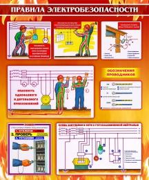 Купить Стенд Правила электробезопасности 1000*1200мм в Беларуси от 138.00 BYN