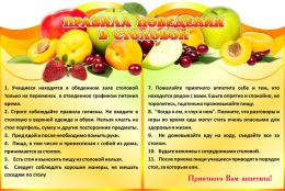 Купить Стенд  Правила поведения  в столовой 1200*800мм в Беларуси от 116.00 BYN