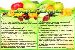 Купить Стенд  Правiлы паводзiн  для столовой на белорусском языке 1200*800мм в Беларуси от 116.00 BYN