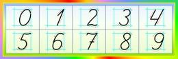 Купить Стенд Правописание цифр в стиле Радуга 600*200 мм в Беларуси от 13.00 BYN