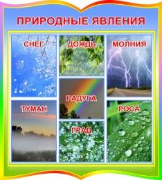 Купить Стенд природные явления в радужных тонах 390*440 мм в Беларуси от 21.00 BYN