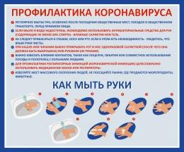 Купить Стенд Профилактика Коронавируса 500*410 мм в Беларуси от 24.00 BYN