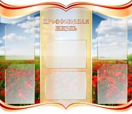 Купить Стенд Профсоюзная жизнь в  золотисто-бордовых тонах  1000*870 мм в Беларуси от 120.00 BYN