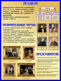 Купить Стенд Реализм в искусстве и литературе 450*600 мм в Беларуси от 31.00 BYN