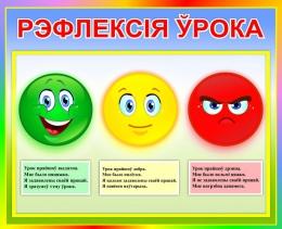 Купить Стенд Рэфлексiя ўрока для начальной школы на белоруссском языке 500*410 мм в Беларуси от 23.00 BYN