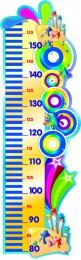 Купить Стенд-Ростомер для группы Акварельки линейка слева 280*890 мм в Беларуси от 29.00 BYN