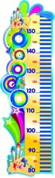 Купить Стенд-Ростомер для группы Акварельки линейка справа 280*890 мм в Беларуси от 29.00 BYN