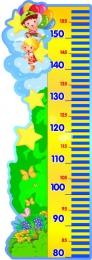 Купить Стенд-Ростомер для группы Почемучки 295*830 мм в Беларуси от 30.00 BYN