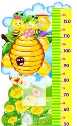 Купить Стенд-Ростомер для группы Пчёлка  с карманом А5 530*860мм в Беларуси от 53.40 BYN