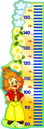 Купить Стенд-Ростомер для группы Знайка 300*850 мм в Беларуси от 31.00 BYN
