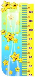 Купить Стенд-Ростомер для группы Звёздочки в золотистых тонах 850*400 мм в Беларуси от 40.40 BYN