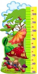 Купить Стенд Ростомер с изображением муравьев и мухомора 440*880 мм в Беларуси от 44.00 BYN