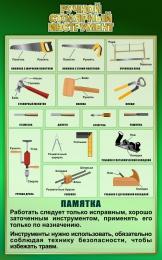 Купить Стенд Ручной столярный инструмент в зеленых тонах 500*800 мм в Беларуси от 44.00 BYN