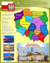 Купить Стенд с картой Польши 600*750мм в Беларуси от 52.00 BYN