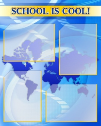 Купить Стенд SCHOOL IS COOL! для кабинета английского языка 600*750мм в Беларуси от 62.00 BYN