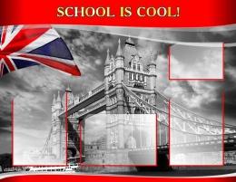 Купить Стенд SCHOOL IS COOL! для кабинета английского языка в стиле Лондон 970*750мм в Беларуси от 92.90 BYN