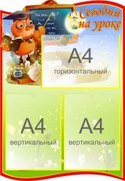 Купить Стенд Сегодня на уроке для начальной школы 500*720мм в Беларуси от 51.50 BYN