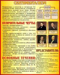 Купить Стенд Сентиментализм в искусстве и литературе 400*500 мм в Беларуси от 22.00 BYN