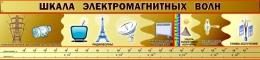 Купить Стенд Шкала электромагнитных волн для кабинета физики в коричневых тонах 2000*460мм в Беларуси от 106.00 BYN