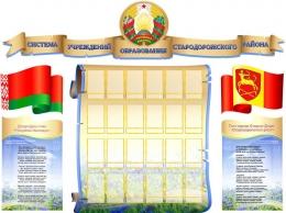 Купить Стенд  Символика Республики Беларусь и вашего города в виде свитка на 24 фотографии 1900*1410мм в Беларуси от 324.40 BYN