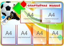 Купить Стенд Спартыўнае жыццё 1000*710 мм в Беларуси от 96.00 BYN