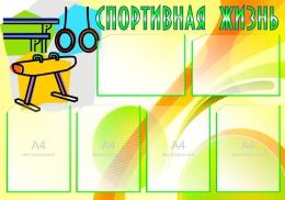 Купить Стенд Спортивная жизнь - Гимнастика 1000*700мм в Беларуси от 100.00 BYN