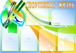 Купить Стенд Спортивная жизнь - Лыжи 1000*700 мм в Беларуси от 95.00 BYN