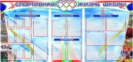 Купить Стенд Спортивная жизнь школы 2150*1000мм в Беларуси от 293.56 BYN