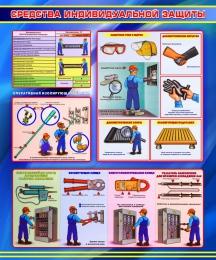 Купить Стенд Средства индивидуальной защиты в синих тонах 1000*1200мм в Беларуси от 138.00 BYN