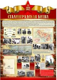 Купить Стенд Сталинградская битва на тему  ВОВ размер 790*1100мм в Беларуси от 100.40 BYN