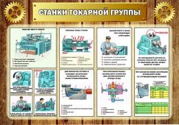 Купить Стенд Станки токарной группы в кабинет трудового обучения 1000*700мм в Беларуси от 81.00 BYN