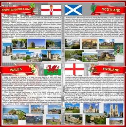 Купить Стенд Страны Соединенного Королевства Великобритании и Северной Ирландии в красно-серых тонах 750*750 мм в Беларуси от 61.00 BYN