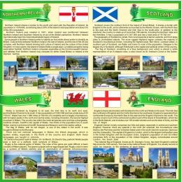 Купить Стенд Страны Соединенного Королевства Великобритании и Северной Ирландии в зеленых тонах 750*750 мм в Беларуси от 65.00 BYN