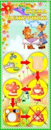 Купить Стенд Схема дежурных для группы Цветочный городок 200*500 мм в Беларуси от 12.00 BYN