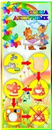 Купить Стенд Схема дежурных группа Семицветик 200*500 мм в Беларуси от 12.00 BYN