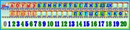 Купить Стенд Таблiца галосныя i зычныя лiтары i цыфры для начальной школы 1500*350мм в Беларуси от 57.00 BYN