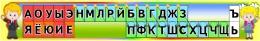 Купить Стенд Таблица гласные и согласные для кабинета начальной школы с детьми в стиле радуга 1380*220 мм в Беларуси от 37.00 BYN
