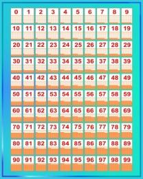 Купить Стенд Таблица Стосчёт по методике Зайцева в бирюзовых тонах 600*750 мм в Беларуси от 51.00 BYN