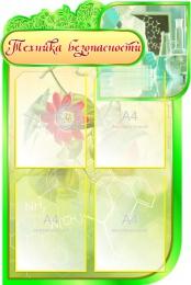 Купить Стенд Техника безопасности для кабинета Биологии на 4 кармана  600*900мм в Беларуси от 72.00 BYN