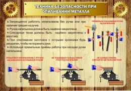 Купить Стенд Техника безопасности при опиливании металла в стиле Стимпанк 1000*700 мм в Беларуси от 81.00 BYN