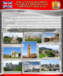 Купить Стенд THE UNITED KINGDOM  OF GREAT BRITAIN AND NORTHERN IRELAND 700*850 мм в Беларуси от 65.00 BYN