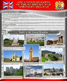 Купить Стенд THE UNITED KINGDOM  OF GREAT BRITAIN AND NORTHERN IRELAND 700*850 мм в Беларуси от 68.00 BYN