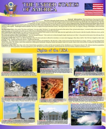 Купить Стенд The United States of America для кабинета английского языка 700*850мм в Беларуси от 68.00 BYN