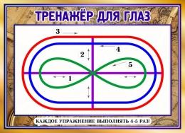 Купить Стенд Тренажер для глаз в кабинет географии 380*275 мм в Беларуси от 0.00 BYN