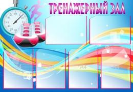 Купить Стенд Тренажерный зал в синих тонах 1000*700 мм в Беларуси от 95.00 BYN