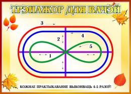 Купить Стенд Трэнажор для вачэй на белорусском языке в стиле Осень 370*260 мм в Беларуси от 11.00 BYN