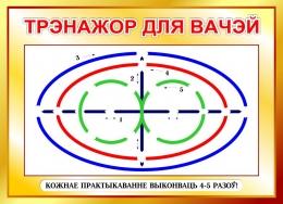 Купить Стенд Трэнажор для вачэй на белорусском языке в золотистых тонах 600*440мм в Беларуси от 30.00 BYN