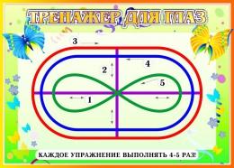 Купить Стенд Тренажёр для глаз в стиле Бабочки 370*260мм в Беларуси от 11.00 BYN