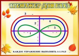 Купить Стенд Тренажёр для глаз в стиле Осень  370*260мм в Беларуси от 11.00 BYN