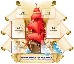 Купить Стенд Уголок Класса в стиле группы стендов Алые паруса 1180*1030 мм в Беларуси от 151.80 BYN